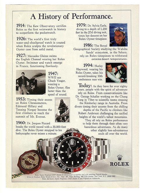 1996 Rolex GMT-Master Ad