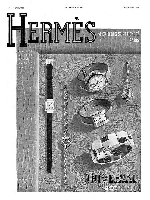 1939 Hermès Suggestions French Ad