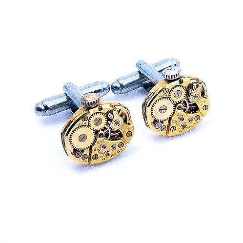 Bulova Gold Watch Movement Cuff Links