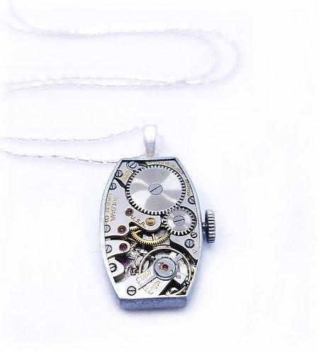 Bulova Watch Pendant Necklace