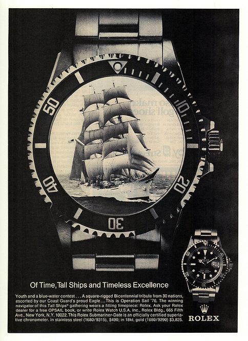 1976 Rolex Submariner Ad