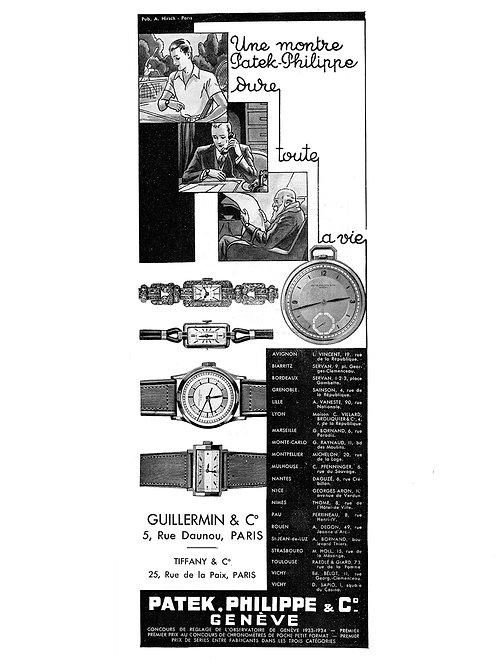 1934 Patek Philippe French Ad