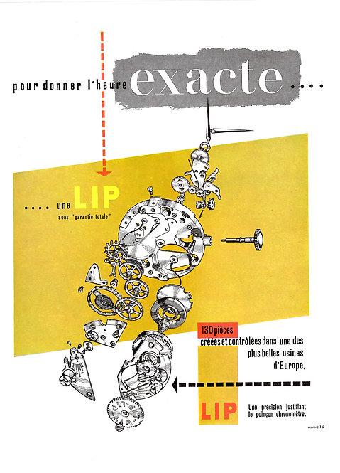 1950 LIP French Ad