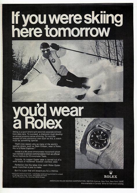 1969 Rolex Explorer Ad