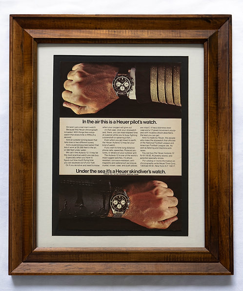 1966 Framed Heuer Ad