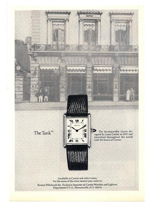 1974 Cartier Tank Ad