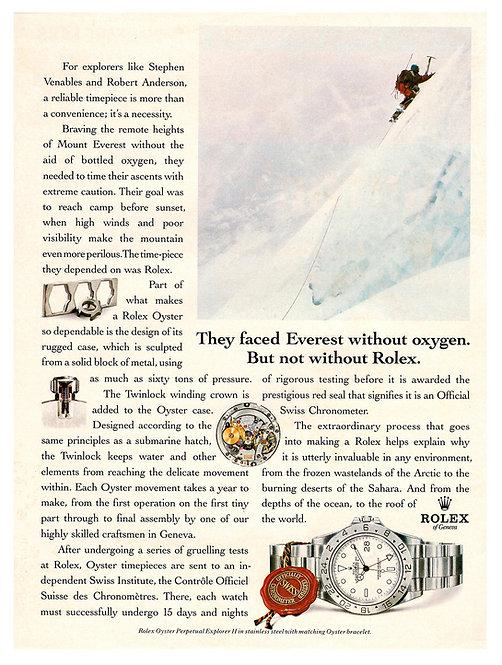 1993 Rolex Explorer II Ad