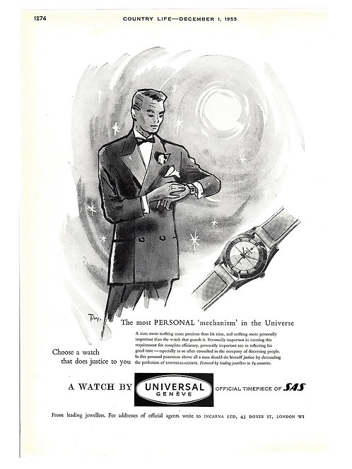 1955 Universal Genève Polerouter Ad
