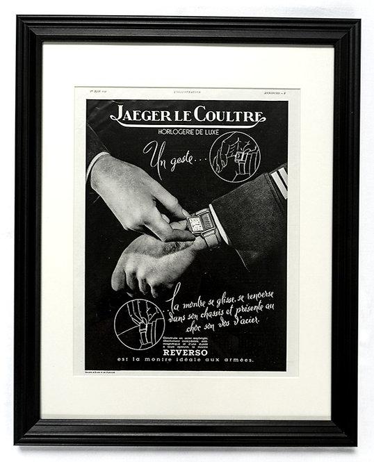 1940 Framed Jaeger LeCoultre Reverso French Ad