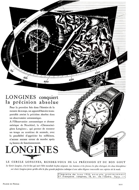 1954 Longines French Ad