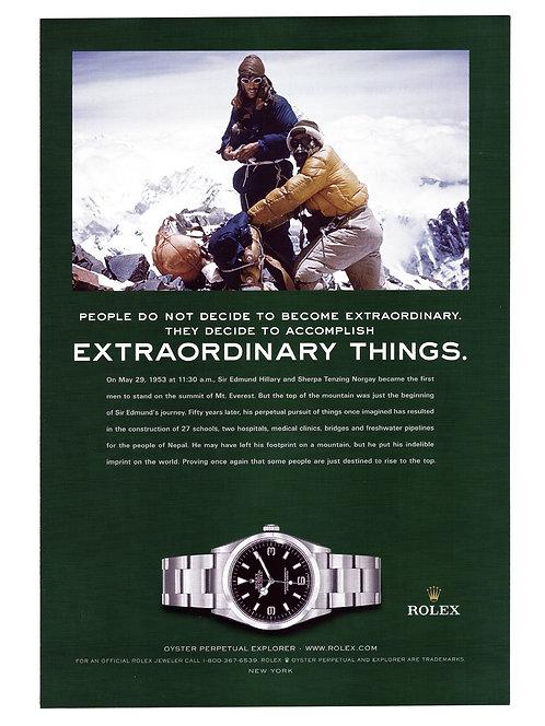 2003 Rolex Explorer Ad