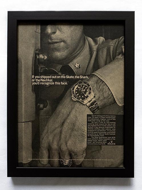 1966 Framed Rolex Ad