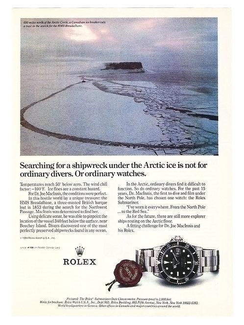 1984 Rolex Submariner Ad