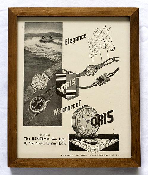 1948 Framed Oris Ad