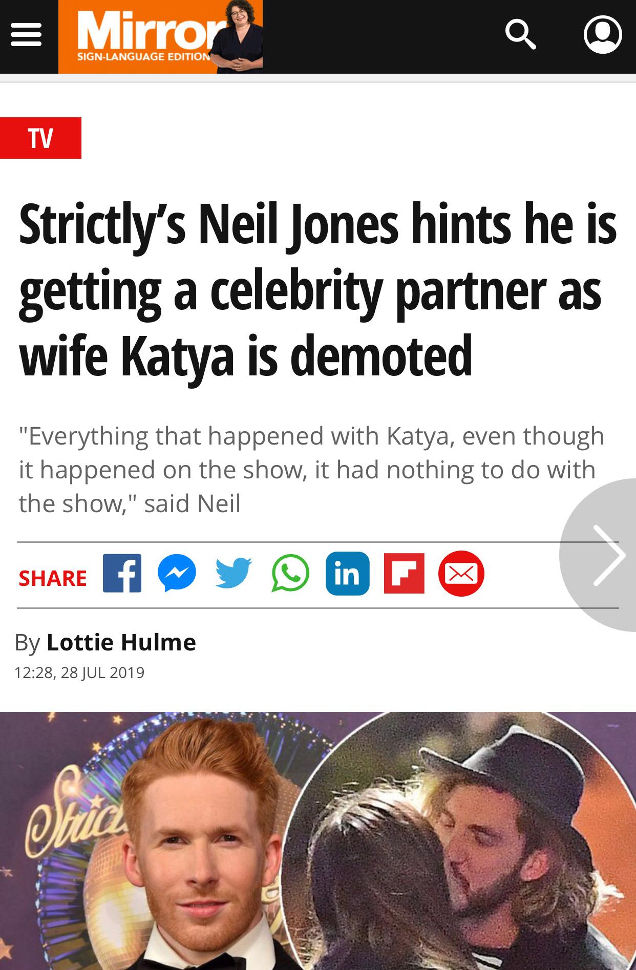 Strictly's Neil Jones hints he is ge