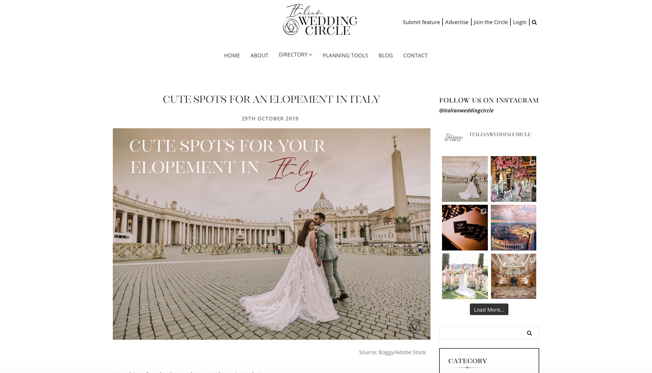 Italian Wedding Circle Elopements