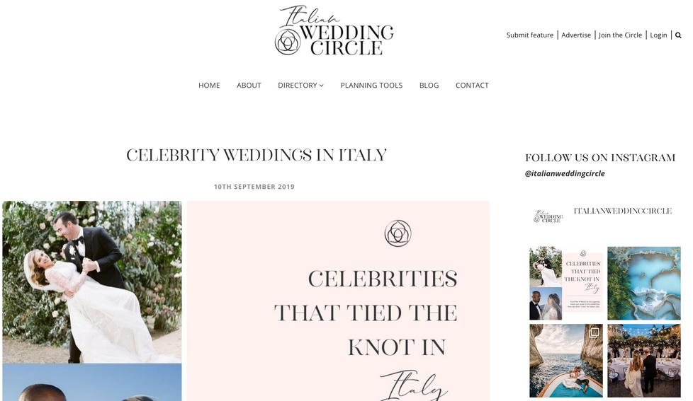 Italian Wedding Circle
