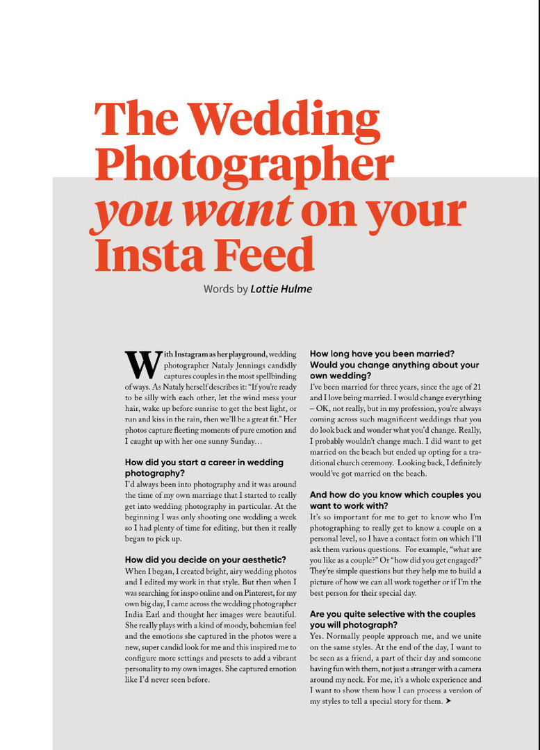 The Wedding Photographer You Want On Your Insta Feed