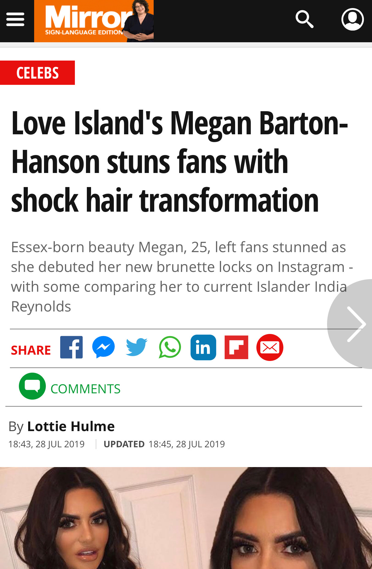 Love Island's Megan Barton-Hanson st