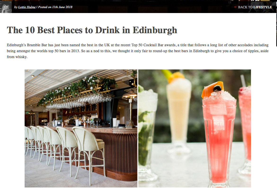 Edinburgh Drinks Guide