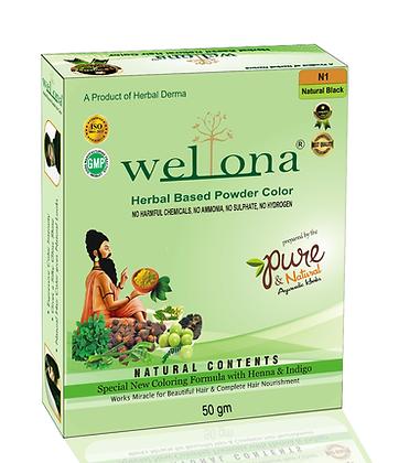 Wellona Herbal Based Powder Hair Color (50 gm)
