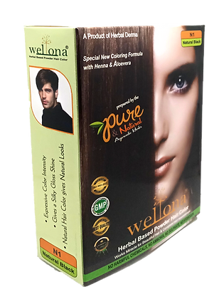 Wellona Herbal Based Powder Hair Color (50 gm)