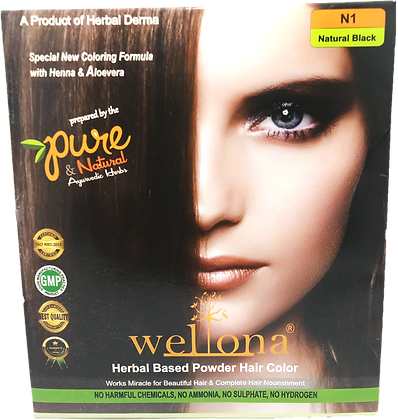 Wellona Herbal Based Powder Hair Color (20 gm)