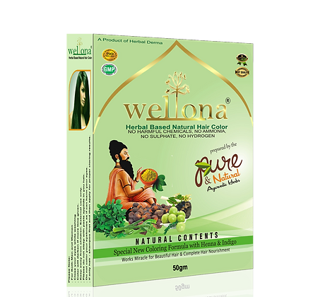 Wellona Herbal Based Natural Hair Color (60 gm)