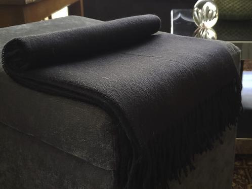 100% Baby Alpaca Blanket Black.                     Made in Peru.
