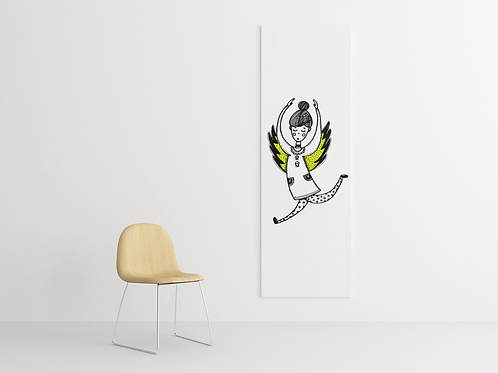 Dancing Winged Angel Ballet | Drawing | Canvas