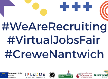 Chancellor Rishi Sunak MP set to open Crewe & Nantwich Jobs Fair