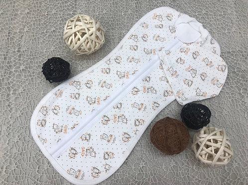 Пеленка-кокон МИШКИ в комплекте с шапочкой для Малышей