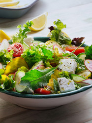 Fresh Green Salad with Feta