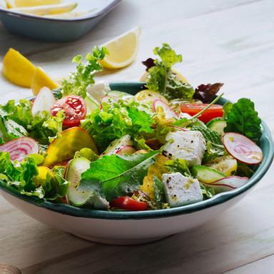 Frisse groene salade met feta