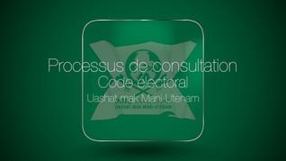 Processus de consultation code électoral de Uashat & Mani Utenam