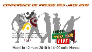 Conférence de presse des JAIB 2019 en LIVE À 14H00