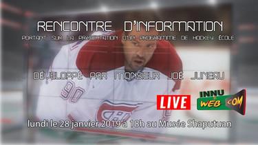 Rencontre d'information portant sur la présentation d'un programme de hockey école