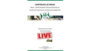 Conférence de presse Projet centre régional d'éducation, 13 aout 2015