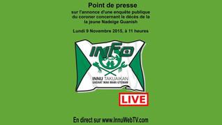 Point de presse sur l'enquête publique Nadeige Guanish