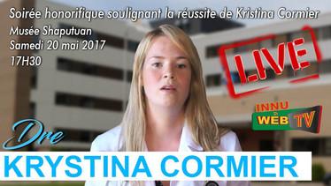 Soirée Honorifique pour Dre Kristina Cormier, 20 mai 2017