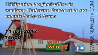 Célébrations des funérailles de Catherine Pinette et de ses enfants, 11 mai 2017