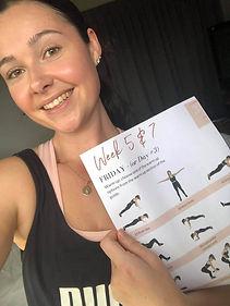 lady showing brochure