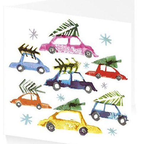 Art Press Christmas Card Pack/5 -Bring Home the Tree