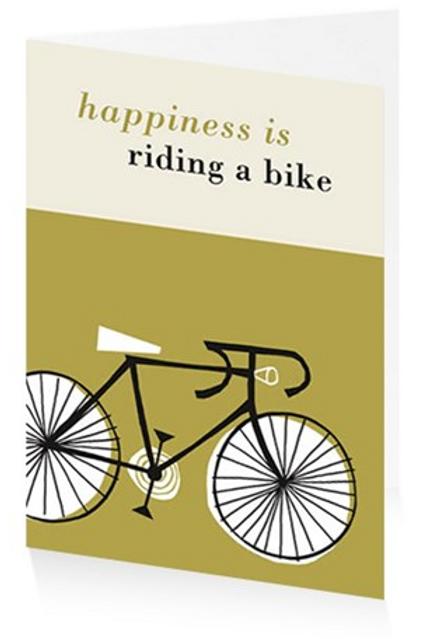 Art Press Card - Happiness is Riding a Bike