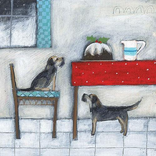 Dry Red Christmas Card - Splendid Pudding -Pack Set/5