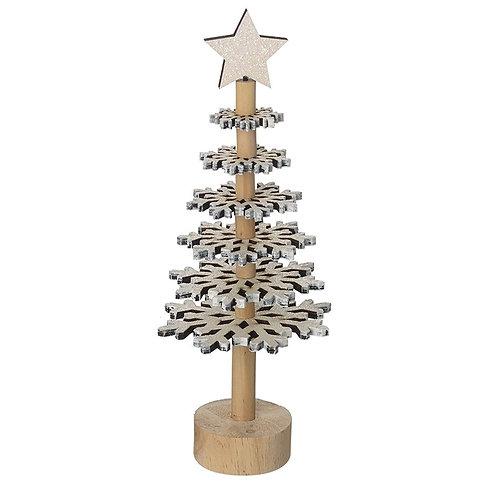Wooden Snowflake Tree