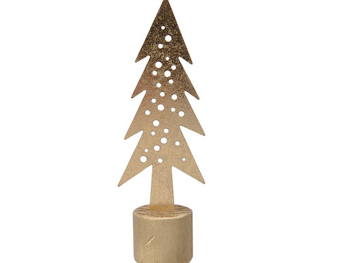 Gold Metal Tree on stand