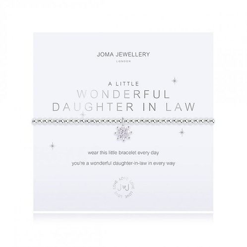 A Little Wonderful Daughter in Law Bracelet