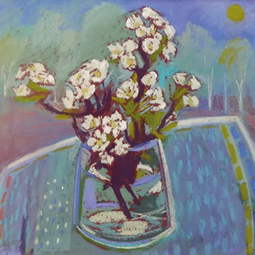 Dry Red Card -Pear Blossom
