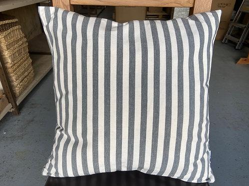 Cushion -Narrow Stripe - Slate